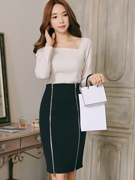Ericdress Ladylike Bodycon Skirt Suit