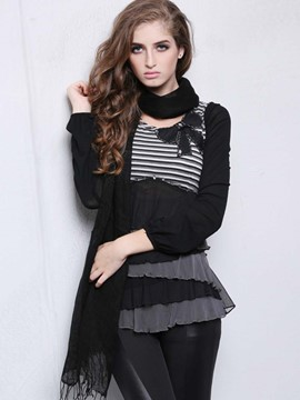 Ericdress Color Block Stripped Layered T-Shirt