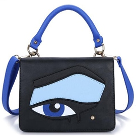 Ericdress Color Block Cartoon Eye Print Handbag