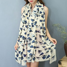 Ericdress Full Birds Printed Shawl Scarf
