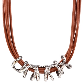 Ericdress Multi Color Leather Necklace