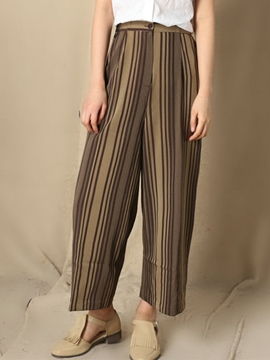 Ericdress Vintage Stripe Wide Legs Pants