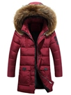 Ericdress Mid-Length Fur Collar Winter Warm Men's Cotton Coat