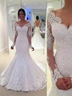 Ericdress Beautiful Long Sleeves Backless Mermaid Wedding Dress