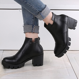 Ericdress Simple Square Heel Ankle Boots
