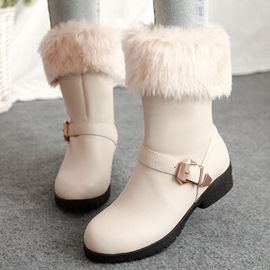 Ericdress Cute Faux Fur Patchwork Snow Boots