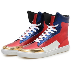 Ericdress Contrast Color Lace-Up High Cut Men's Sneakers