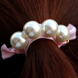 Ericdress Pearl Decorated Hair Rope