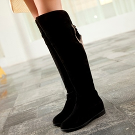 Ericdress Lovely Back Bowtie Knee High Boots