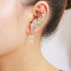 Ericdress Chain Tassels Leaf Ear Cuff