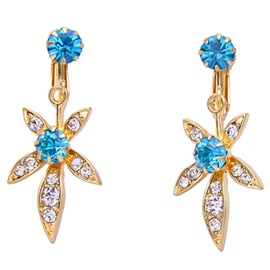 Ericdress Alloy Flower Diamante Earrings