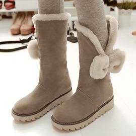 Ericdress Charming Bowtie Round Toe Snow Boots