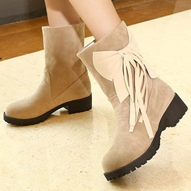 Ericdress Charming Bowknot Tassel Ankle Boots