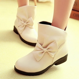 Ericdress Lovely Bowknot Round Toe Ankle Boots