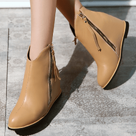 Ericdress Simple Zipper Ankle Boots