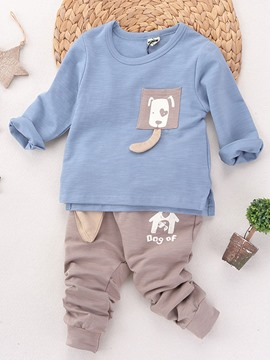 Ericdress Dog Pattern Pure Two-Piece Boys Outfit