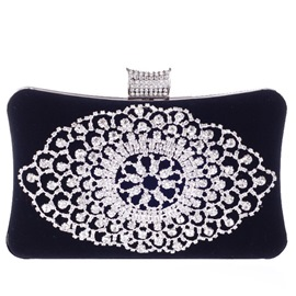 Ericdress Exquisite Diamante Velvet Evening Clutch