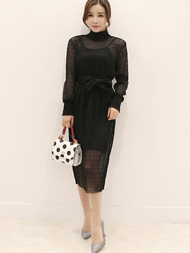 Ericdress Fashion Hollow Two-Piece Suit
