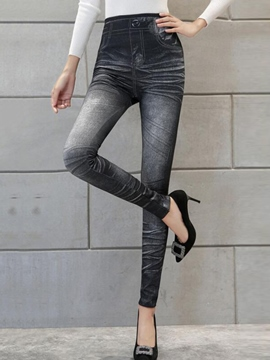 Ericdress Simple Faux Jean Leggings Pants