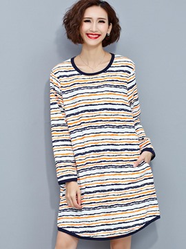 Ericdress Fine Stripe Loose T-Shirt