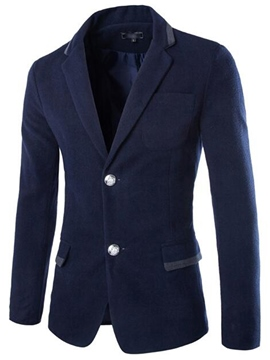 Ericdress Single-Breasted Pocket Slim Casual Men's Blazer
