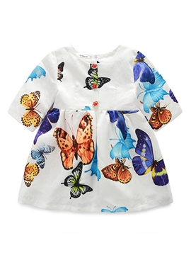 Ericdress Butterfly Printed Girls Dress