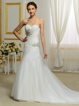 Ericdress Comfortable Sweetheart Mermaid Wedding Dress