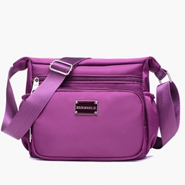 Ericdress Simple Color Block Nylon Shoulder Bag