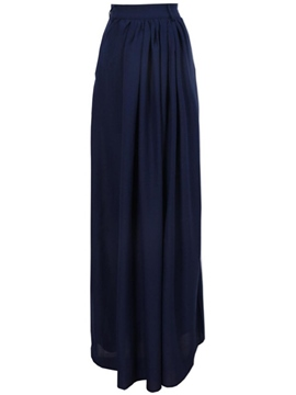 Ericdress Solid Color Maxi Skirt