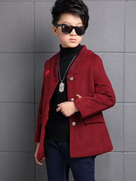 Ericdress Twill Woolen Embroidery Cardigan Thread Boys Outerwear