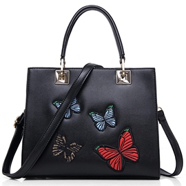 Ericdress Vintage Butterfly Embroidery Handbag