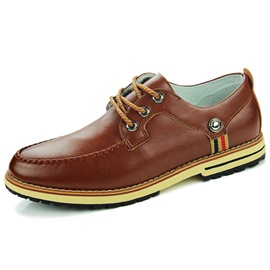 Ericdress Chic PU Round Toe Lace-Up Men's Casual Shoes