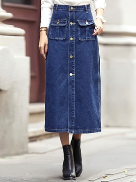 Ericdress Unique Denim Skirt