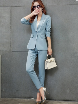 Ericdress Fashion Simple Blazer Suit