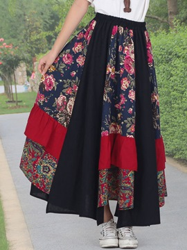 Ericdress Chinese Ethnic Usual Skirt