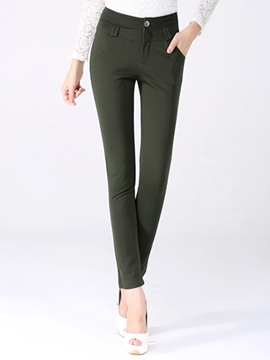 Ericdress Solid Color Simple Pants