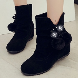 Ericdress Sweet Bowtie Round Toe Ankle Boots