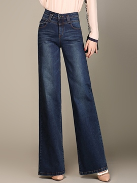 Ericdress Fashion Wide Legs Jeans