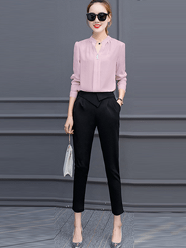 Ericdress Simple Color Block Suit