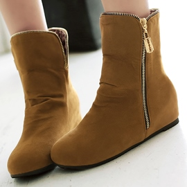 Ericdress Sweet Suede Side Zip Ankle Boots