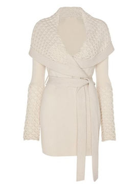 Ericdress Slim Lace-Up Turn-Down Coat