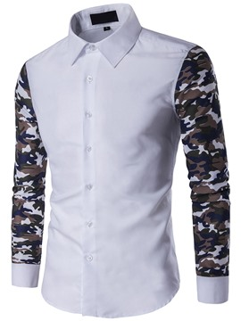 Ericdress Camouflage Long Sleeve Men's Shirt