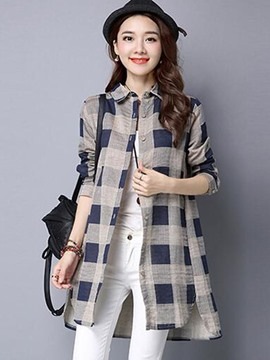 Ericcdress Color Block Cardigan Blouse