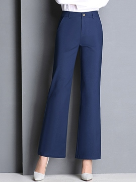 Ericdress Solid Color OL Pants