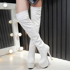 Ericdress Chic PU Platform Knee High Boots