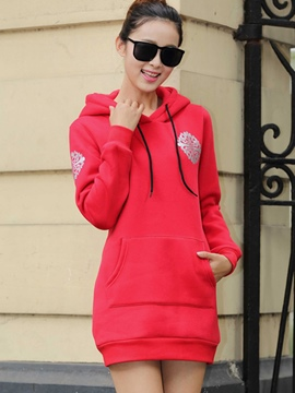 Ericdress Straight Printed Cool Hoodie