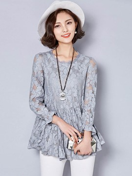Ericdress Floral Lace Blouse