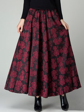 Ericdress Print Expansion Skirt