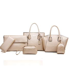 Ericdress Trendy Grained Embossed Handbags(6 Bags)