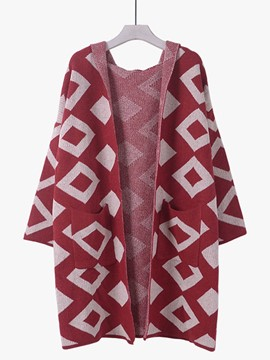 Ericdress Geometric Pattern Cardigan Knitwear